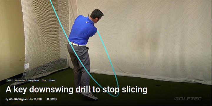 A key downswing drill to stop slicing