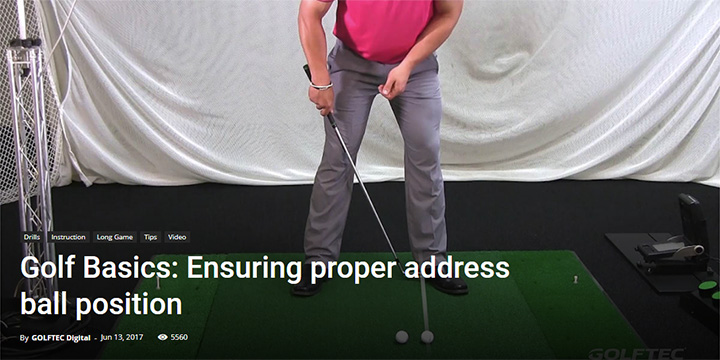 Golf Basics: Ensuring proper address ball position