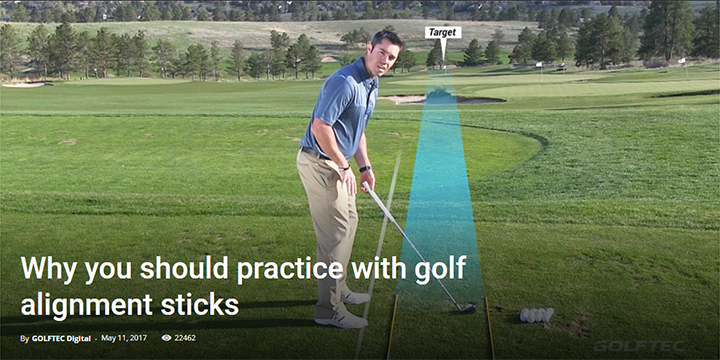 Why you should practice with golf alignment sticks
