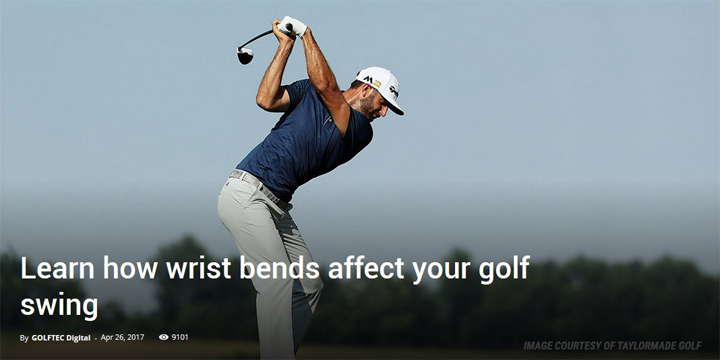 Learn how wrist bends affect your golf swing