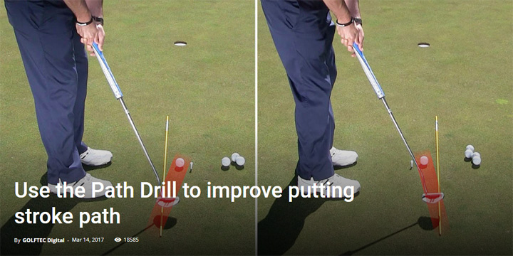 Use the Path Drill to improve putting stroke path