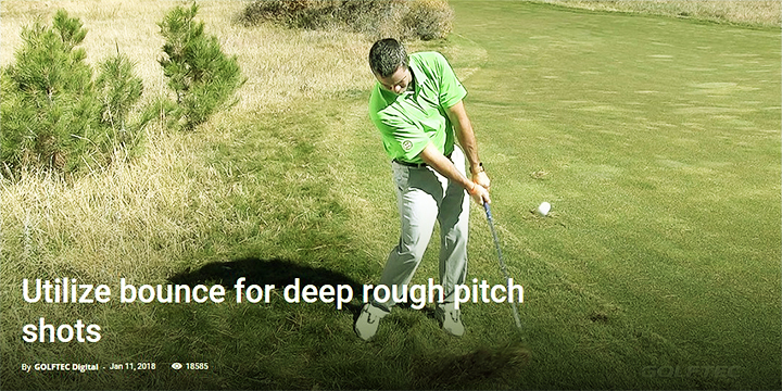 Dwaw the golf ball with proper wrist hinge and hip turn